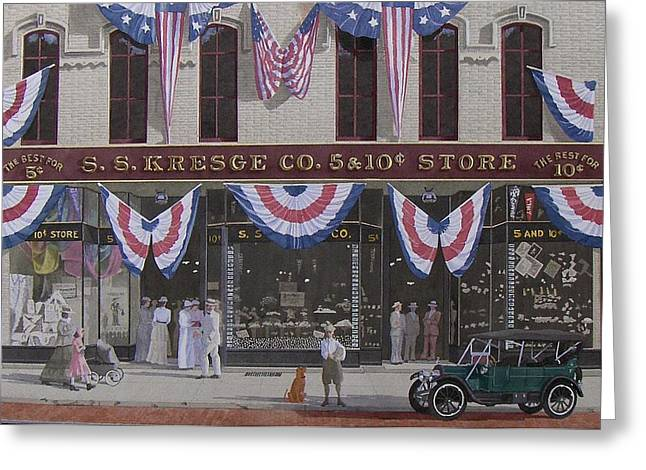 S. S. Kresge Five And Ten Cent Store Greeting Card by C Robert Follett