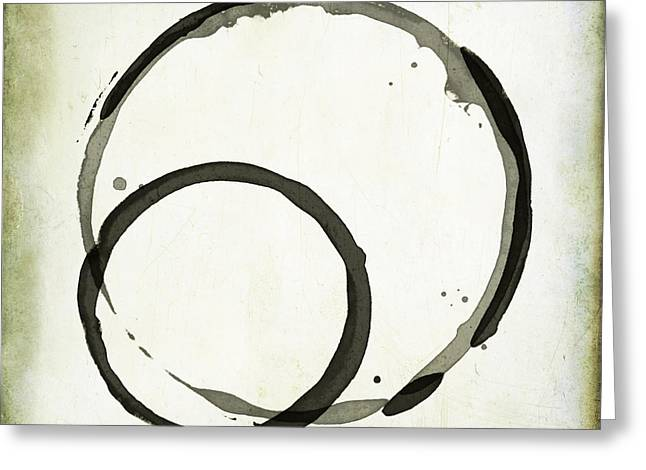 Enso Greeting Cards - S1 S2 Greeting Card by Julie Niemela