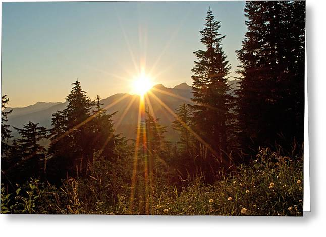 Sabbath Sunset Greeting Card by Tikvah's Hope