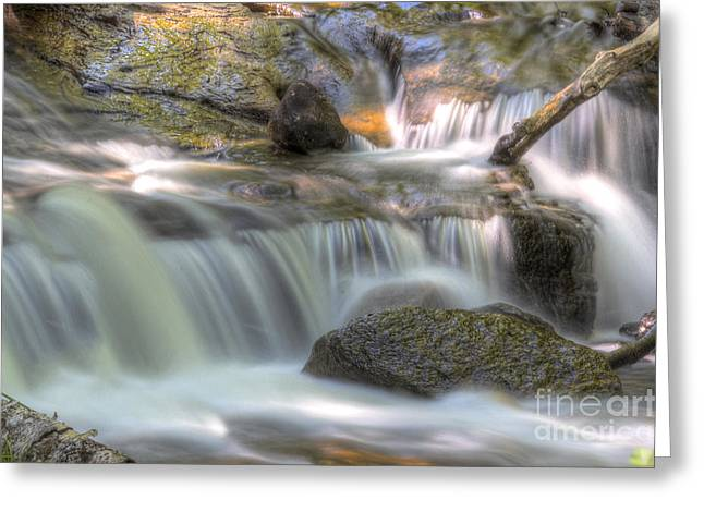 Superior Sunrise Greeting Cards - Sable Falls in Pictured Rocks Greeting Card by Twenty Two North Photography