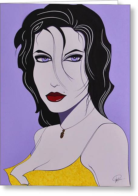 Gold Necklace Greeting Cards - Sabrina Greeting Card by Patrice Clark