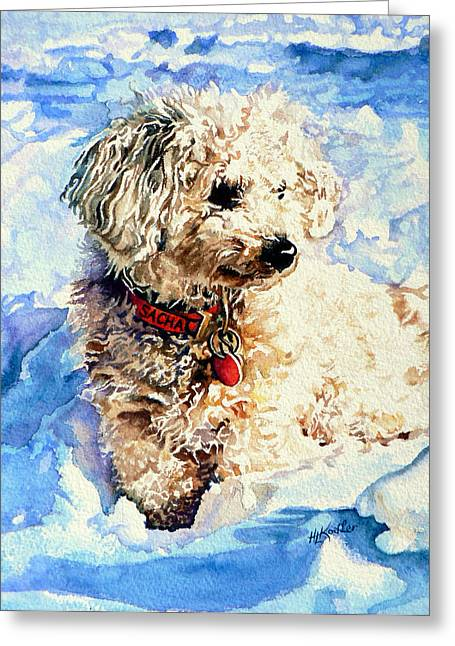 Dog Prints Greeting Cards - Sacha Greeting Card by Hanne Lore Koehler