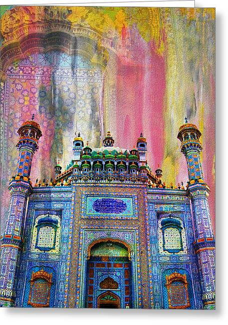 Akbar Shahjahan Greeting Cards - Sachal Sarmast Tomb Greeting Card by Catf