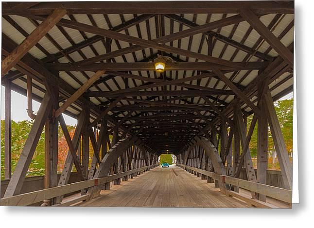 Saco River Bridge Greeting Card by Karen Stephenson