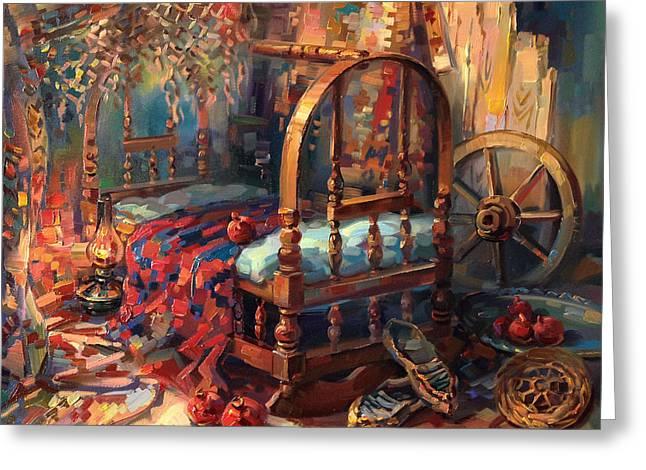 Armenian Greeting Cards - Sacrament of a cradle Greeting Card by Meruzhan Khachatryan