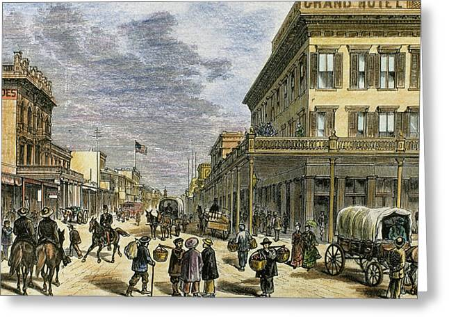 Sacramento In 1878 Greeting Card by Prisma Archivo
