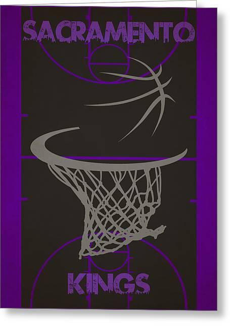 King Greeting Cards - Sacramento Kings Court Greeting Card by Joe Hamilton