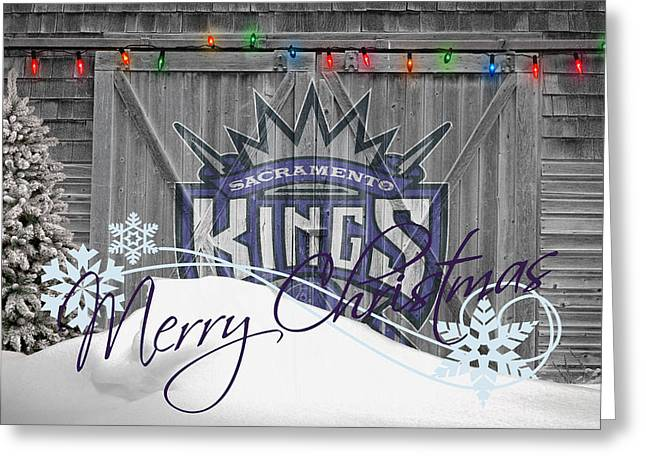 Dunk Photographs Greeting Cards - Sacramento Kings Greeting Card by Joe Hamilton
