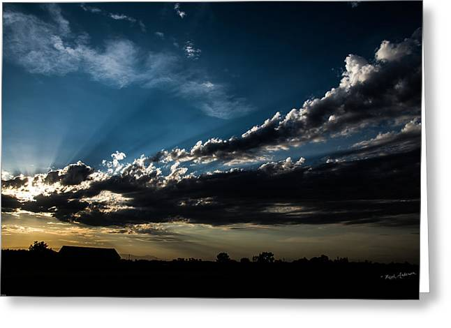 Mick Anderson Greeting Cards - Sacramento Valley Sunset Greeting Card by Mick Anderson