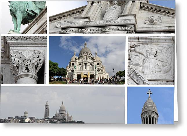 Catherdral Greeting Cards - Sacre Coeur Greeting Card by Adrienne Franklin