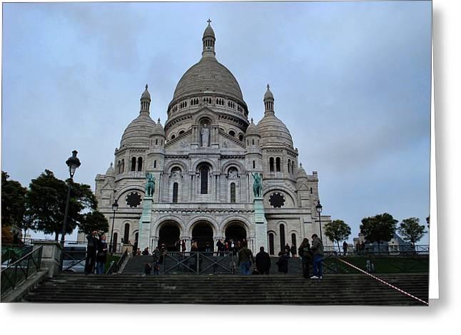Greeting Cards - Sacre Coeur  Greeting Card by Paris  France