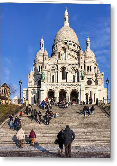 Basillica Greeting Cards - Sacre Coeur - Parisian Landmark Greeting Card by Mark Tisdale