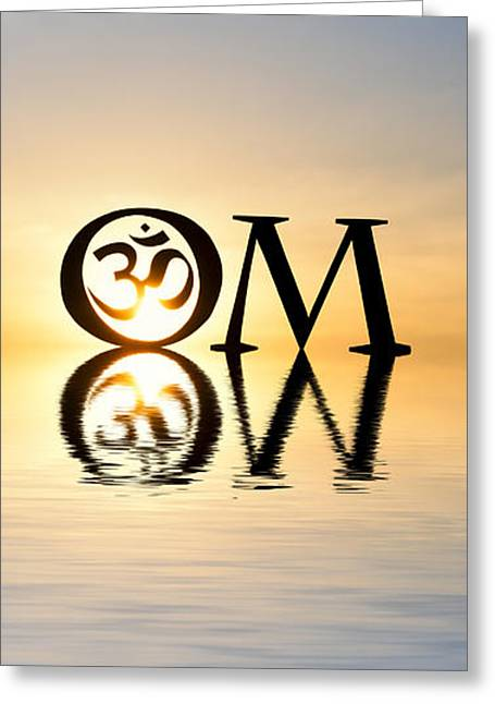 Sacred Greeting Cards - Sacred AUM Greeting Card by Tim Gainey