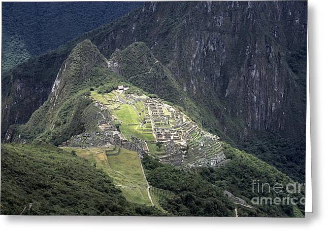 Lost City Greeting Cards - Sacred City of Machu Picchu Greeting Card by James Brunker