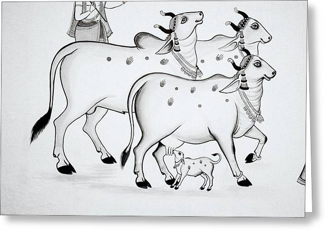 Sacred Bull Greeting Cards - The Sacred Cow Greeting Card by Shaun Higson