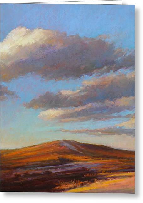 Sand Dunes Pastels Greeting Cards - Sacred Dune Greeting Card by Ed Chesnovitch
