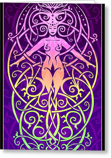 Sacred Digital Art Greeting Cards - Sacred Ecology Greeting Card by Cristina McAllister