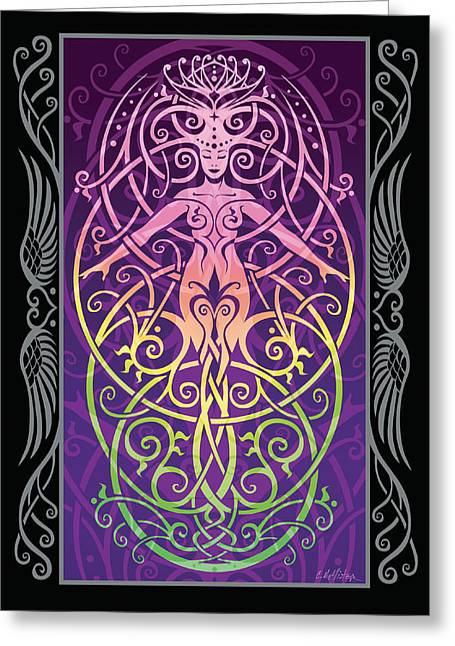 Sacred Digital Art Greeting Cards - Sacred Ecology v.2 Greeting Card by Cristina McAllister
