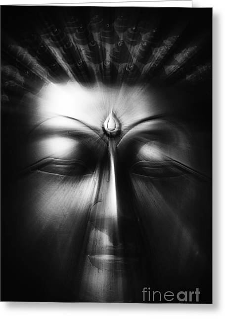 Meditate Greeting Cards - Sacred Eyes  Greeting Card by Tim Gainey
