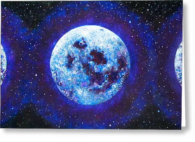 Gallery Sati Greeting Cards - Sacred Feminine Blue Moon Greeting Card by Shelley Irish