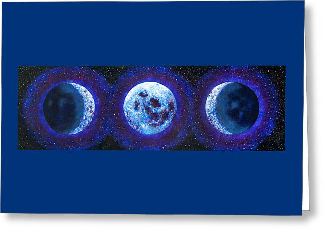 Sacred Feminine Blue Moon Greeting Card by Shelley Irish