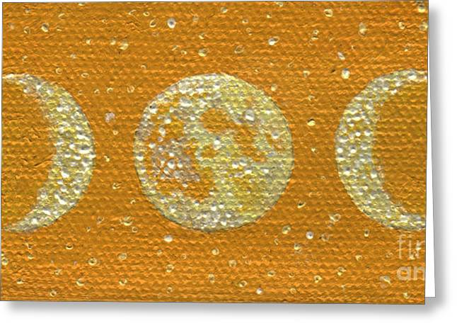Gallery Sati Greeting Cards - Sacred Feminine Moon in Sunrise Sky Greeting Card by Shelley  Irish