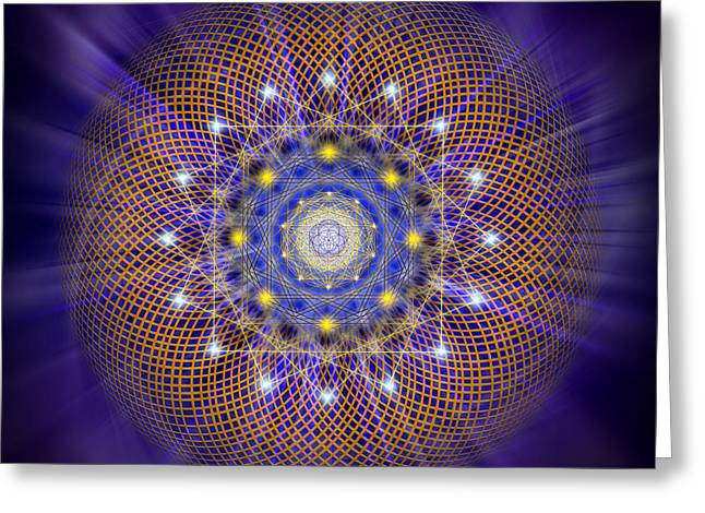 Illuminate Greeting Cards - Sacred Geometry 161 Greeting Card by Endre Balogh