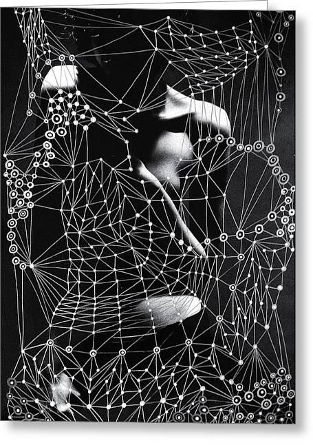 Phot Art Greeting Cards - Sacred Geometry Mixed Media Art by Maria Lankina Greeting Card by Maria  Lankina