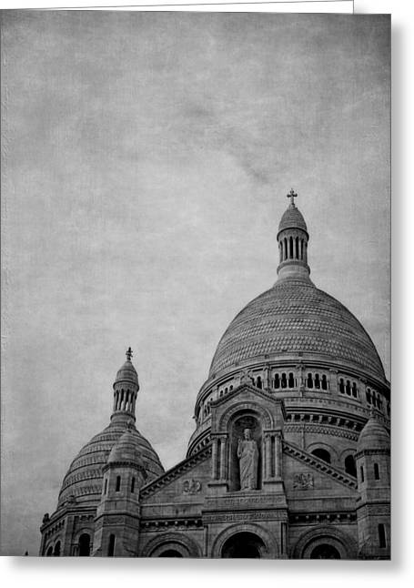 Sacred Digital Art Greeting Cards - Sacred Heart Basilica Of Montmartre  Greeting Card by Maria Angelica Maira