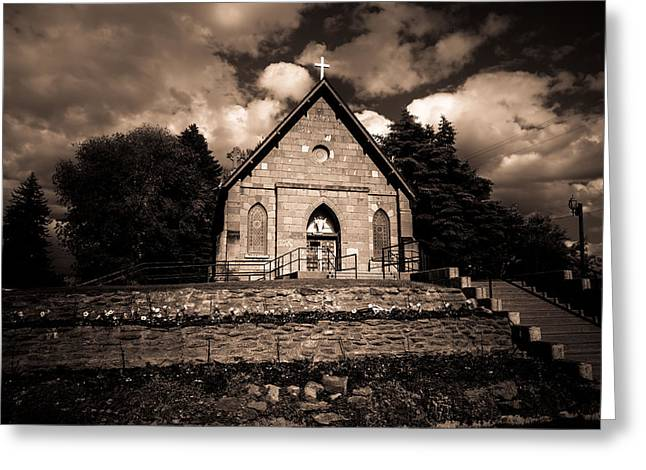 Sacred Photographs Greeting Cards - Sacred Heart Catholic Church Greeting Card by Scott McGuire