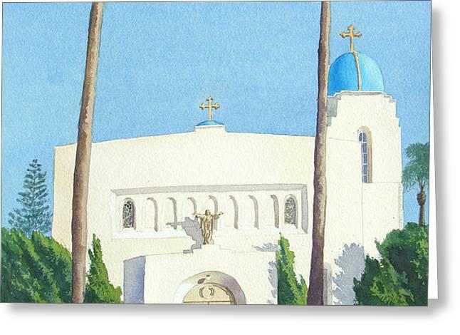 Sacred Heart Church Coronado Greeting Card by Mary Helmreich