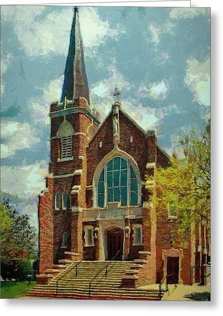 Door Greeting Cards - Sacred Heart Greeting Card by Jeff Kolker