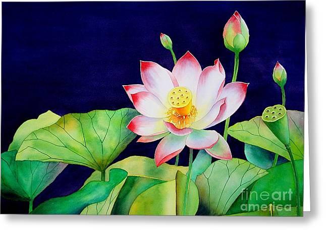 Sacred Lotus Greeting Card by Robert Hooper