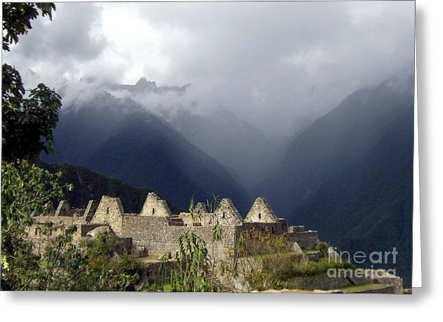 Historic Site Greeting Cards - Sacred Mountain Echos Greeting Card by Barbie Corbett-Newmin