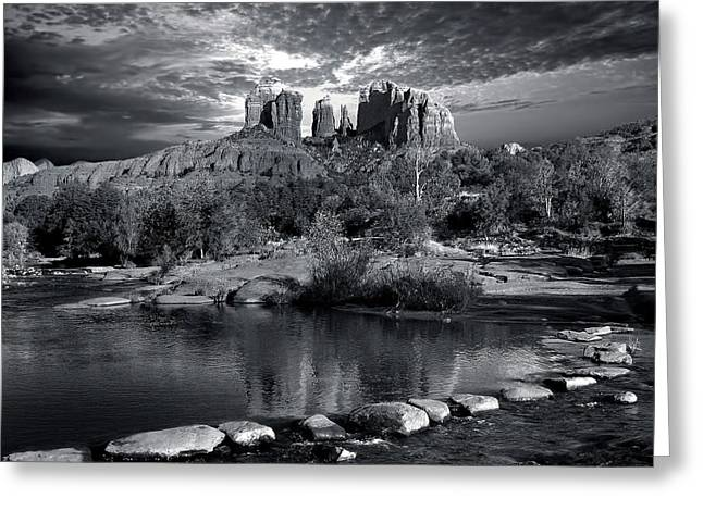Cathedral Rock Greeting Cards - Sacred Place Greeting Card by Lanis Rossi