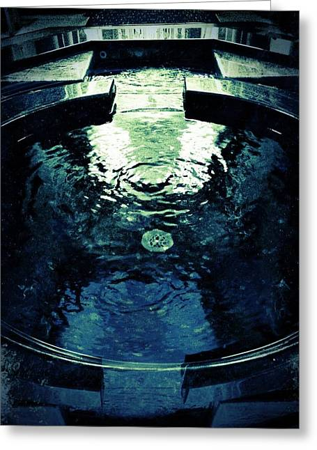 Santa Fe Fountain Greeting Cards - Sacred Pool Greeting Card by Mark David Gerson