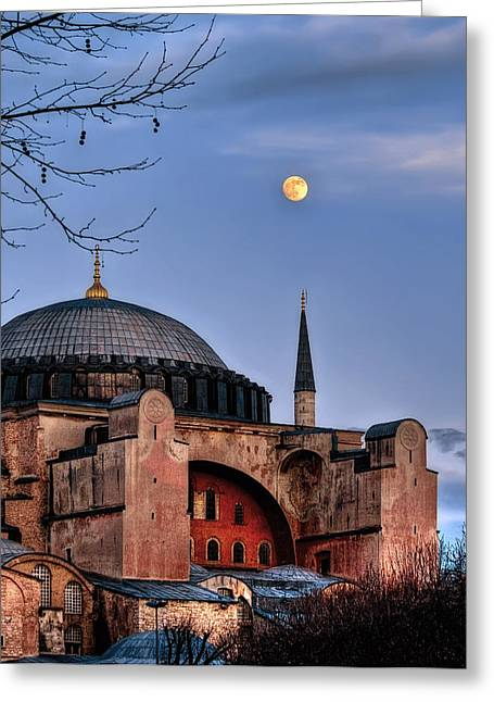 Hagia Sofia Greeting Cards - Sacred Silence Hagiasofia Greeting Card by Leyla Ismet