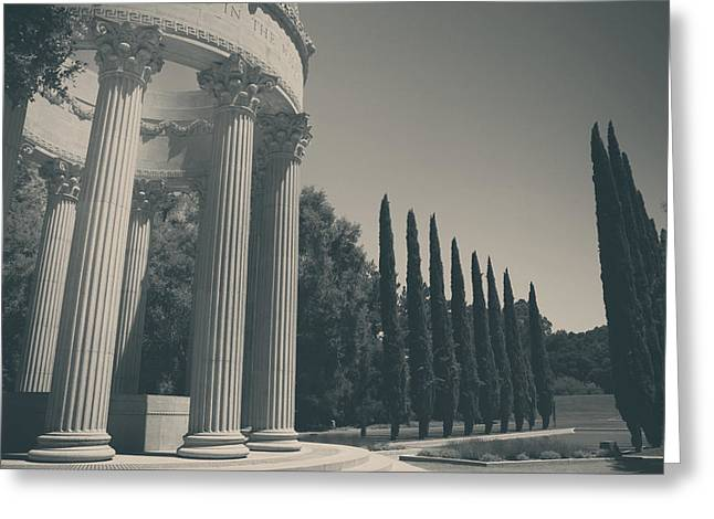 Reflecting Pool Greeting Cards - Sacred Things Greeting Card by Laurie Search