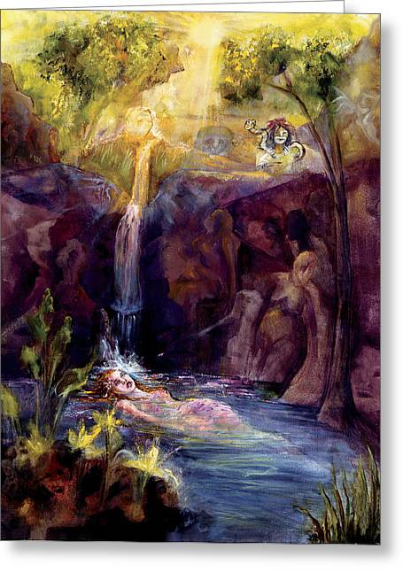 Empowerment Greeting Cards - Sacred Union Greeting Card by Shari Silvey