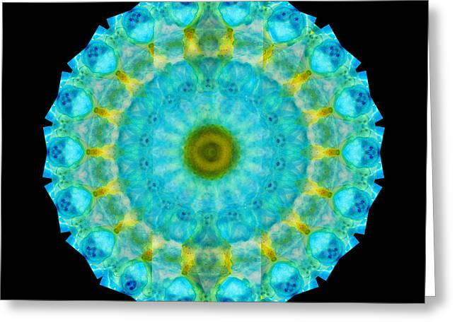 Sacred Circle Greeting Cards - Sacred Voice - Mandala Art By Sharon Cummings Greeting Card by Sharon Cummings