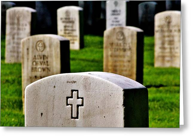 Headstones Greeting Cards - Sacrifice Greeting Card by Benjamin Yeager