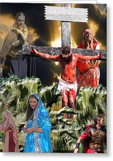 Jesus Mixed Media Greeting Cards - Sacrifice of the Lamb Greeting Card by Terry Wallace