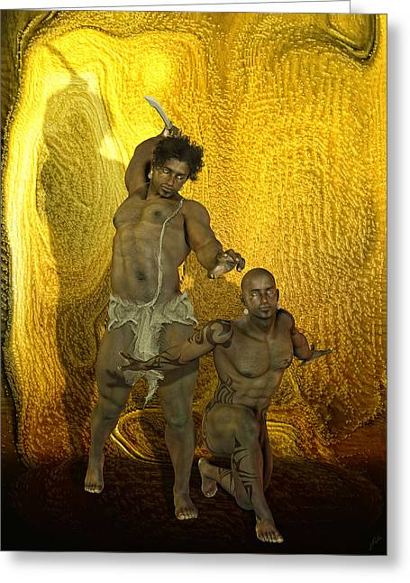 Freethinker Greeting Cards - Sacrifice to the gods Greeting Card by Joaquin Abella