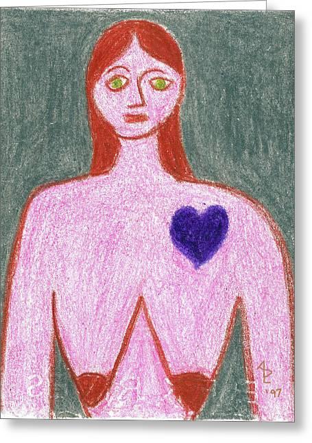 Sad Greeting Card by Anita Dale Livaditis