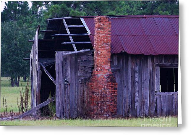 Tin Roof Greeting Cards - Sad Greeting Card by Chuck  Hicks