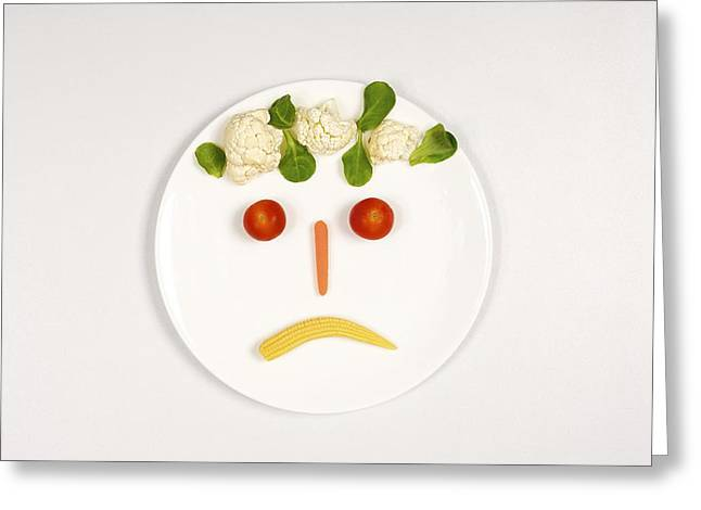 Abstract Expression Greeting Cards - Sad food face Greeting Card by Science Photo Library