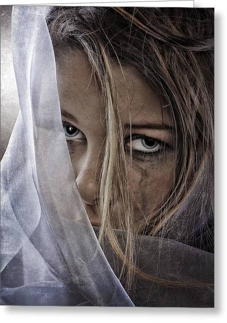 Teenage Photographs Greeting Cards - Sad Girl Greeting Card by Erik Brede