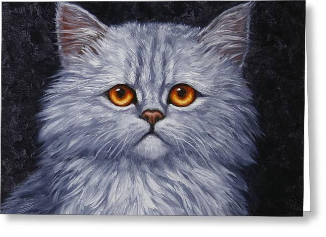 Sad Kitty Greeting Card by Crista Forest