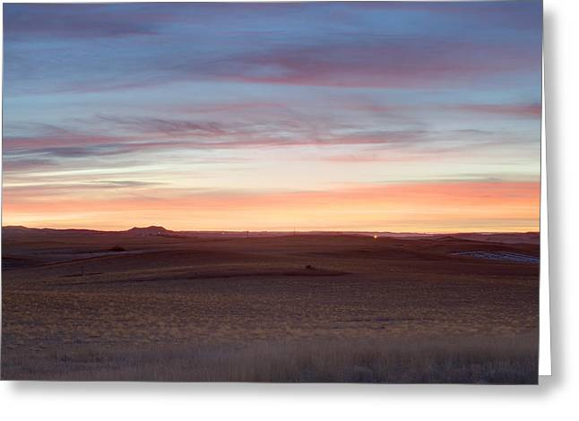 Hdr Landscape Greeting Cards - Saddle Butte Sunrise Greeting Card by Ray Frazier Sr