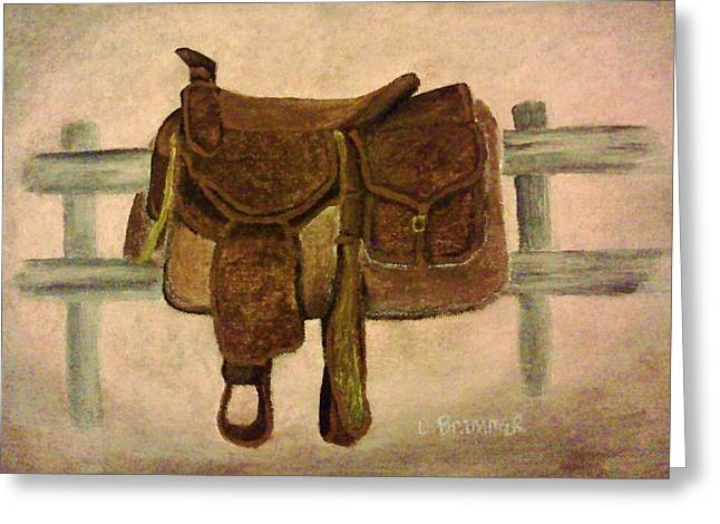 Saddle Up Greeting Card by Christy Saunders Church
